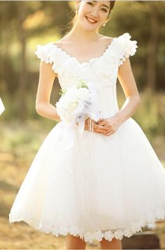 Two Shoulder Lovely Short Bridesmaid Dress 619 A-Line Wedding Dresses | Buy Wholesale On Line Direct from China