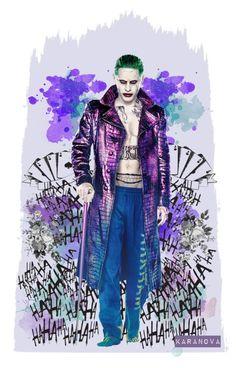 """joker wallpaper design"" by karanova ❤ liked on Polyvore featuring art, wallpaper, thejoker, SuicideSquad and mrj"