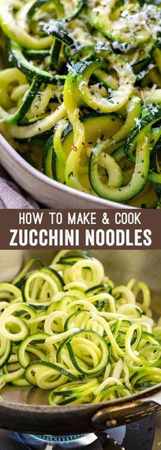 Learn how to make healthy zucchini noodles with this easy 15-minute recipe! A step-by-step guide to the process of spiralizing and cooking zoodles to create a tasty gluten-free pasta. #zucchininoodles #zoodles via @foodiegavin