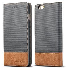"""iPhone 6/6s 4.7"""" Case,WenBelle Blazers Series,Stand Feature,Double Layer Shock Absorbing Premium Soft PU Color matching Leather Wallet Cover Flip Cases For apple iPhone 6 6s 4.7 inch Vitality Grey"""