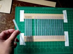 Making a rigid heddle from quilting plastic template and craft wood.