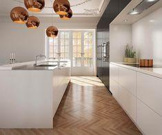 Uno Form -  U- serie Black Oak and Glacier White kitchen.