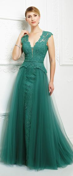 Elegant Tulle V-neckline Cap Sleeves A-line Mother Of The Bride Dresses With Beaded Lace Appliques & Belt