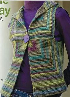 Knitting and Crochet Brazil - Handmade bellisimo mi proximo . Knitting and Crochet Brazil - Handmade bellisimo mi proximo . Always aspired to be able to knit, yet uncertain the pla. Gilet Crochet, Crochet Vest Pattern, Crochet Jacket, Cardigan Pattern, Knit Jacket, Diy Crafts Knitting, Creative Knitting, Hand Knitting, Knitting Patterns