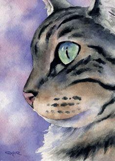 Cat in Water color
