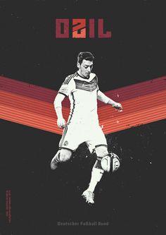 Ozil, Deutschland / Alemania - Mundial Brasil 2014 - Brazil World Cup 2014. KEY PLAYERS by Giuseppe Vecchio Barbieri