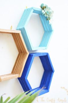 Epic 30 DIY Popsicle Stick Decor Ideas To Increase Your Interior Home wahyuputra.Epic 30 DIY Popsicle Stick Decor Ideas To Increase Your Interior Home wahyuputra.Home Wall Ideas Diy Hanging Shelves, Floating Shelves Diy, Diy Wall Shelves, Diy Wall Art, Wall Storage, Bedroom Storage, Storage Ideas, Craft Storage, Small Shelves