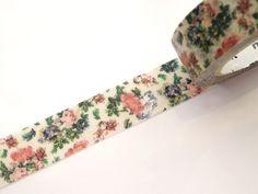 Botanical washi tape, Little flower wedding, Japanese stationery, DIY wedding, Gift wrapping, Stationery gift, Masking tape, Elegant flower by WashiTapeAddictClub on Etsy