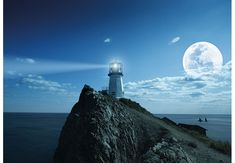 Lindesnes Lighthouse Painting by Janet King
