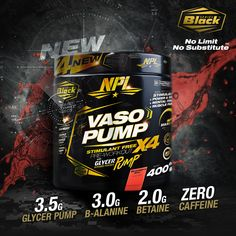 New Vaso Pump - Stimulant Free Pre-Workout - Added Glycer Pump Best Workout Supplements, Sports Nutrition, Nutritional Supplements, Fun Workouts, Muscle, Pumps, Goals, Free, Products