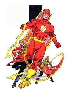 Barry Allen, The Flash, by George Perez Comic Book Artists, Comic Book Heroes, Comic Artist, Comic Books Art, Flash Art, The Flash, Dc Speedsters, Flash Tv Series, Flash Comics