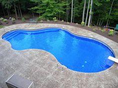 Backyard Pool Landscaping, Backyard Pool Designs, Small Backyard Pools, Swimming Pools Backyard, Vinyl Pools Inground, Inground Pool Designs, Swimming Pool Designs, Pool Landscape Design, Pool Shapes