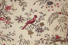 Antique French chintz linen cotton old woodblock printed c 1830 Indienne Indigo Prints, Textile Prints, Antique Quilts, Vintage Textiles, Patterns In Nature, Print Patterns, Pattern Ideas, Chintz Fabric, French Fabric