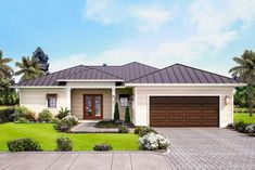 Lovely 3-Bed One-Story House Plan with Covered Lanai - 86071BW thumb - 01