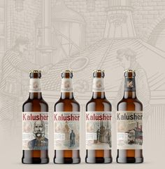 Kalusher on Behance Beer Packaging, Packaging Design, Lager Beer, Behance, Beer Bottles, Creative, Design Packaging, Package Design