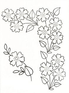 Hand Work Embroidery, Embroidery Flowers Pattern, Hand Embroidery Patterns, Embroidery Stitches, Machine Embroidery, Fabric Paint Designs, Border Embroidery Designs, Fabric Painting, Embroidery Patterns Free