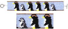 Penguins Beaded Bracelet   by maddiethekat