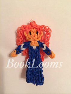 MERIDA from Brave. Designed and loomed by Maria Rue Fitz. (Rainbow Loom FB page)