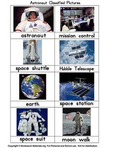 Astronaut Classified Picture Cards PDF File