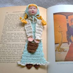 jill with pail crochet bookmark pattern PDF by AndersonsCreations, $6.45