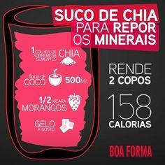 Suco de chia para repor os minerais #boaforma