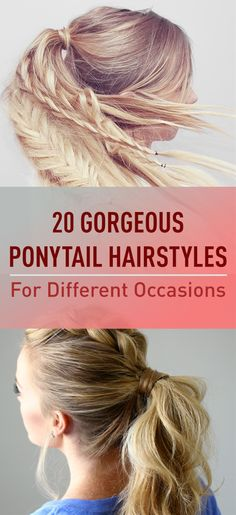 Every woman loves ponytails they're elegant and quick to put together. You just pull all your hair back and up tie it together with a hair band and walk out of the door. By having a ponytail you can create a whole range of different looks from classy to funky and you can have the perfect hairstyle for any occasion!