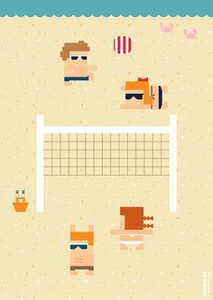 Beach Volleyball by Elizabeth Soo,2015