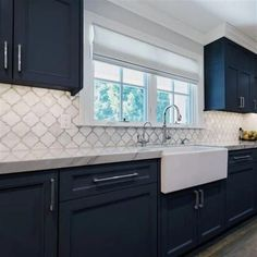 Nuvo Oxford Blue Cabinet Paint Explore your options for painting kitchen cabinets, plus browse inspiring pictures Kitchen On A Budget, Home Decor Kitchen, Home Kitchens, Diy Kitchen, Rustic Kitchen, Small Kitchens, Distressed Kitchen, Blue Kitchen Ideas, Awesome Kitchen