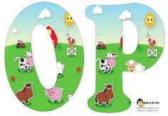 Oh my Alfabetos!: Alfabeto de la Granja. Farm Animal Birthday, Farm Birthday, Alfabeto Animal, Farm Unit, Animal Alphabet, Alice In Wonderland Party, Farm Party, Farm Theme, Painted Letters