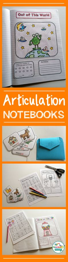 Year Round Articulation Notebooks for Speech & Language Therapy by teachingtalking.com