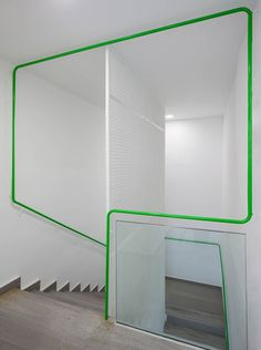 Stair - green railing