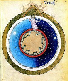 4eme jour : création des lumières = soleil étoiles lune Mss bnf 3-003.jpg 503×600 pixels