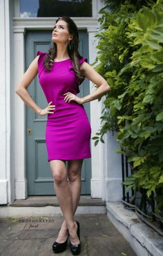 #women #beauty #beautiful #women #woman #summer #fashion #old #london #street #house #door #pink #dress #colors #pose #long #legs #black #heels #brown #long #hairs #pic #picture #photo #photography #photoshoot #editorial #farahphotography