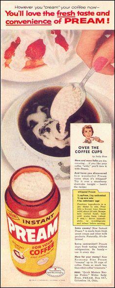 PREAM COFFEE CREAMER LOOK 09/16/1958