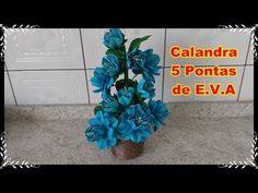 DIY - Calandra 5 Pontas de E.V.A - YouTube