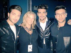 Presentación espectacular de #ilvolo.Grande amore! #LatinAMAs #Backstage @piero_barone  @GianGinoble @IBoschetto
