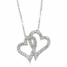 Amazon.com: Double Hearts Necklace, Christmas Necklace 925 Sterling Silver Filled: Everything Else