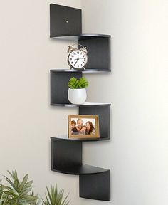 cool home decor idea for the corner. put anything you like on these shelves and it doesn't take up much space, great idea for small rooms, home decor inspiration, office decor, wall decor, shelves ideas, appartment decor, bedroom decor, house ideas #ad #walldecor #shelves #walldecor #homedecor #house #appartment #style #coolofficespacesmall #decoratingideasforthehomewallsmallspaces