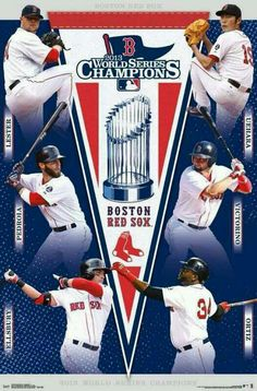 Boston Red Sox - 2013 World Series Champions: This memorabilia is sure to be everywhere when we arrive in Boston this autumn!