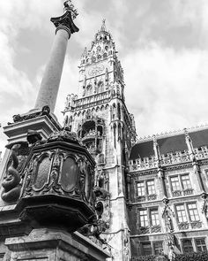 Reposting @jqurney: To me black and white are the colors of photography. To me they symbolize the alternatives of hope and despair to which mankind is forever subjected. Picture of Marienplatz, Munich Germany through my eyes. Quote by Robert Frank. #germany #blackandwhitephoto #blackandwhitephotography #munich #münchen #symbolism #hope #despair #architecture #myjourney #exploretocreate #travel #bsides #quotes #beautiful #amateurphotography #learning #sightseeing #mylens #myview #enjoyinglife