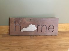 There is no place like home! Custom home piece made from reclaimed wood. #bluecutcreations #etsy