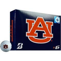 Bridgestone Golf Auburn University e6 Golf Balls 12-Pack - Golf Equipment, Collegiate Golf Products at Academy Sports