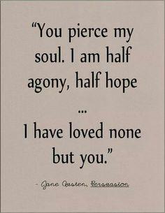 Pierced my soul