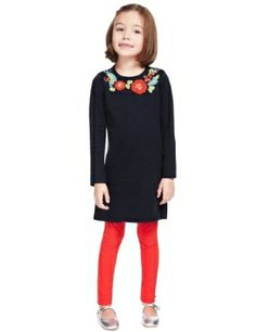 Pure Cotton Floral Knitted Dress M&S £18