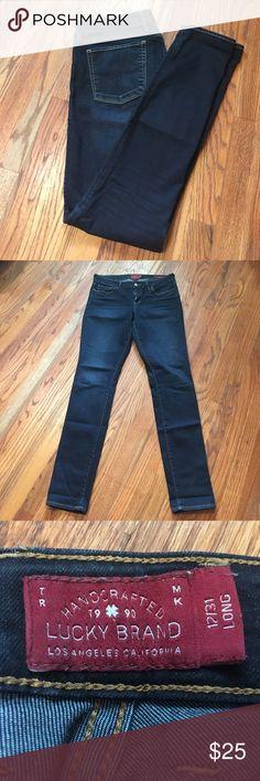 Lucky Brand Layla Skinny Jeans- 31 Long Lucky Brand Layla Skinny Jeans in 12/31 Long. Dark wash and super stretchy! Lucky Brand Jeans Skinny