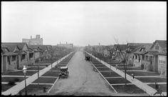 Taken from the old elevated Union Pacific/North Line track looking due east up West Arthur Avenue toward North Clark in the Rogers Park neighborhood of northeast Chicago. From: Shorpy Historical Photo Archive :: Chicago: 1920s