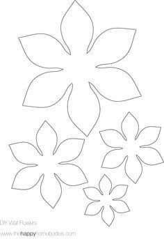 New flowers diy paper wall art ideas Paper Flower Patterns, Paper Flowers Diy, Felt Flowers, Flower Crafts, Diy Paper, Paper Crafting, Fabric Flowers, Free Paper, Paper Butterflies