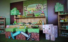festa minecraft - Pesquisa Google Mine Craft Party, Party Favors For Kids Birthday, Minecraft Birthday Party, 6th Birthday Parties, Birthday Candy, 8th Birthday, Minecraft Beads, Minecraft Pixel Art, Creeper Minecraft
