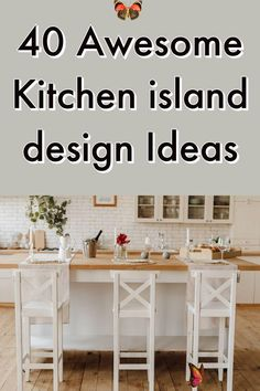 40 Awesome Kitchen Island Design Ideas (Modern Decor & Layout) Discover these inspiring kitchen island design ideas and start planning your dream kitchen. From modern and luxury designs to farmhouse styles, open concept kithcen island, small kitchen island with seating and bench, sink, stove, and lightings. #kitchenisland #kitchenremodel #kitchendecor #kitchenideas<br> Images Of Kitchen Islands, Rustic Kitchen Island, Kitchen Island With Seating, Farmhouse Style Kitchen, Stylish Kitchen, Modern Kitchen Design, Interior Design Kitchen, Distressed Kitchen, Kitchen Trends
