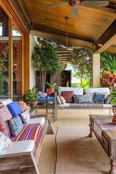 Resultado de imagem para casas de campo com varanda Design Exterior, Interior And Exterior, Outdoor Rooms, Outdoor Living, Outdoor Decor, Future House, Outside Living, Style At Home, My Dream Home